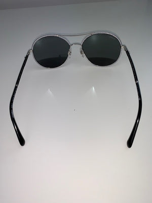Brand New Chanel Silver Aviator Sunglasses