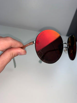Chanel Red Mirrored Sunglasses