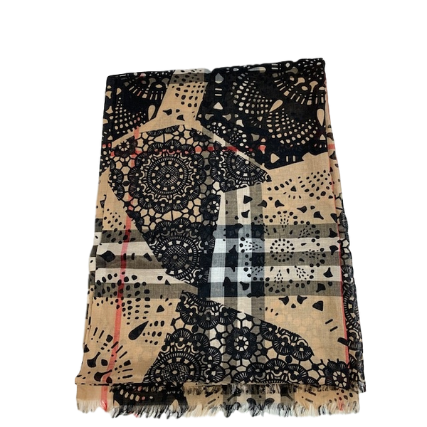 Burberry Limited Edition Lightweight Scarf Wool / Silk