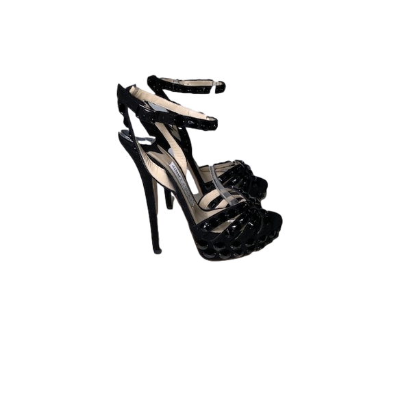 Brand New Jimmy Choo Black Crystal Sandals 36