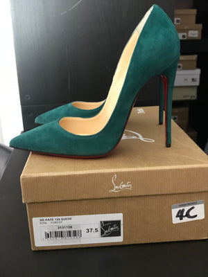 Brand New Christian Louboutin So Kate Suede 37.5