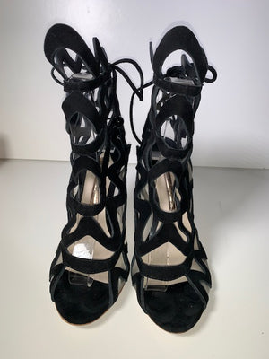 Sophia Webster Mila Black Suede Sandal 39