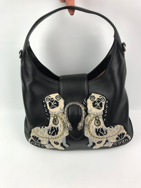 21a4e2abe4fe Brand New Gucci Dionysus Medium Embroidered Dog Leather Hobo - Love Luxe