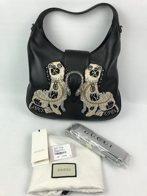 Brand New Gucci Dionysus Medium Embroidered Dog Leather Hobo