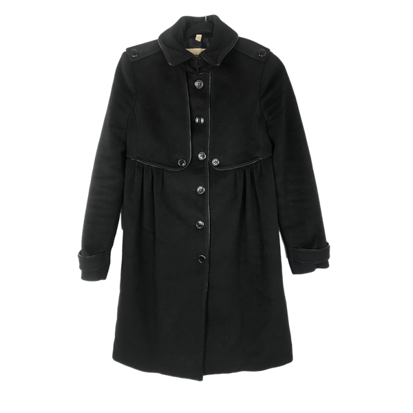 Burberry Black Wool Coat Size 6