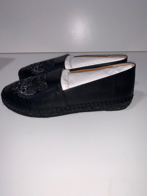 Brand New Kenzo Black Leather Espadrille 37