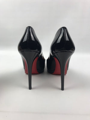 Brand New Christian Louboutin New Simple Pump Black Patent 37.5