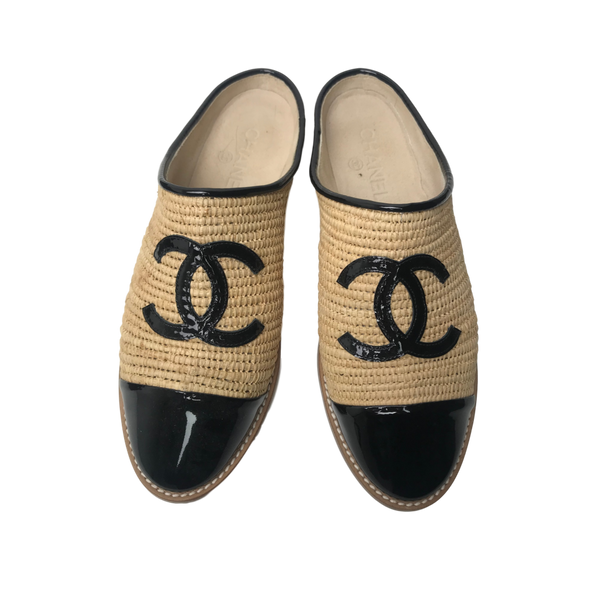 Brand New Chanel Patent Mules 39