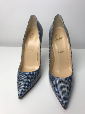Brand New Christian Louboutin So Kate Patent Navy / Black 39