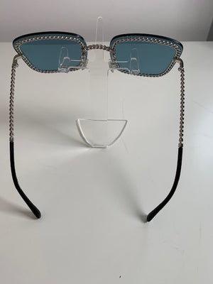 Brand New Chanel Sunglasses Turquoise 4244 (Does not come with chain)
