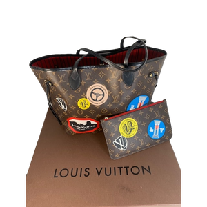 Prizedraw Tickets For Louis Vuitton Rare World Tour Neverfull MM And Pouch