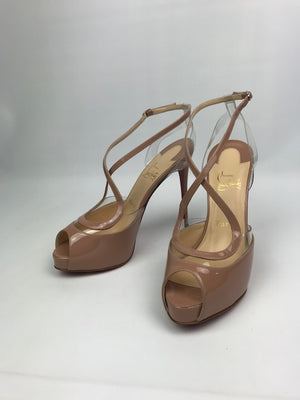 Brand New Christian Louboutin Cupidivipi Nude Patent 39