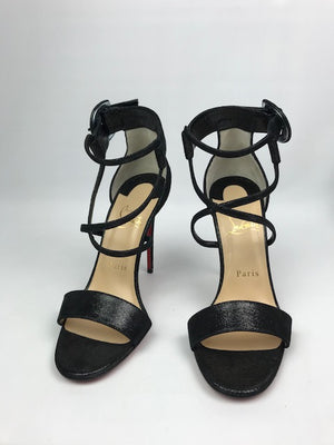 Brand New Christian Louboutin Choca Suede Lame 36.5