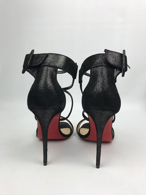 Brand New Christian Louboutin Choca Suede Lame 40.5