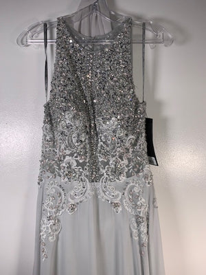 Dynasty London Belarina Silver Dress Size 10 UK