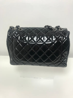 Chanel 2.55 Jumbo Single Flap Bag Black Patent