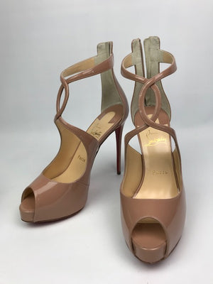 Brand New Christian Louboutin Rosie Nude Patent 37.5