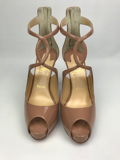 9a44abf8f92 Brand New Christian Louboutin Rosie Nude Patent 37.5