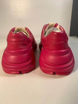 Brand New Gucci Rhyton Pink Sneakers 36