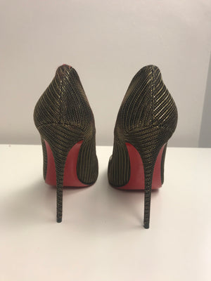 Brand New Christian Louboutin So Kate Glitter Chain 36