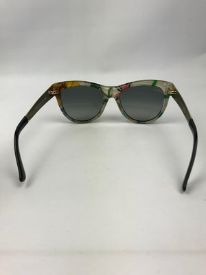 Gucci Floral / Black Plastic Sunglasses