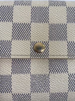 Louis Vuitton Long Wallet Damier Azur Canvas