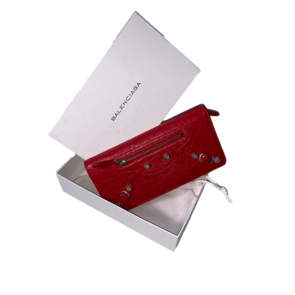 Brand New Balenciaga Red City Wallet