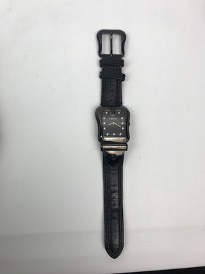 Fendi B Watch Black With Diamond Hour Markers