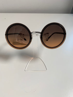 Brand New Chanel Chain Arm Orange Gradient Sunglasses 4245