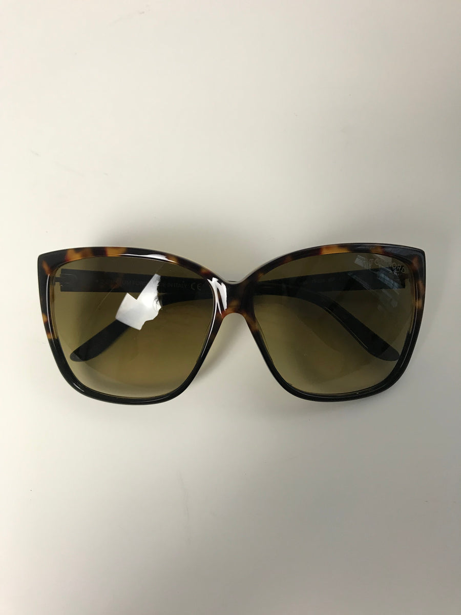 Tom Ford Lydia Tortoiseshell Sunglasses
