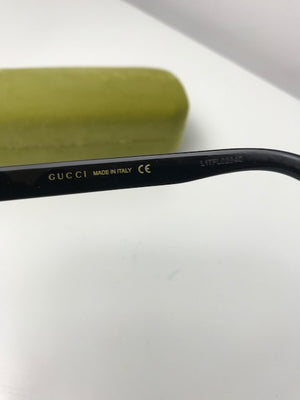Gucci Black Crystal GUCCI GG 0118S 001 Black Sunglasses