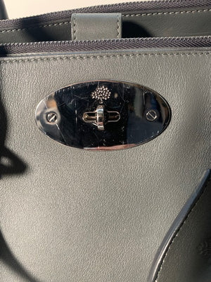 Mulberry Double Zip Bayswater Grey