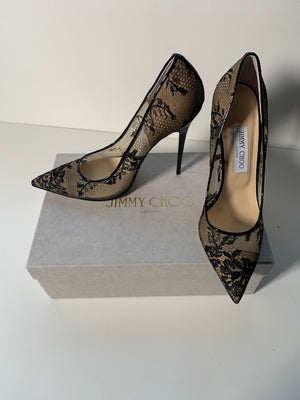 Brand New Jimmy Choo Anouk Lace Pumps 40