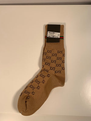 Brand New Gucci Monogram Socks Medium (38-42)