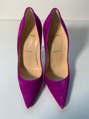 Brand New Christian Louboutin So Kate Purple Suede 37.5
