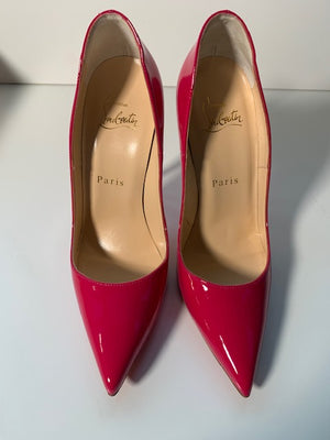 Brand New Christian Louboutin So Kate Rosa Patent 36
