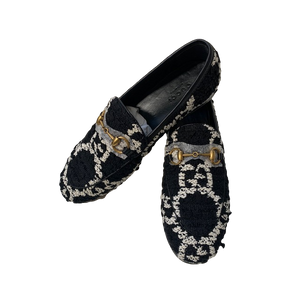 Brand New Gucci Tweed Loafers 35