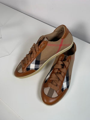 Brand New Burberry Classic Check Sneakers 38