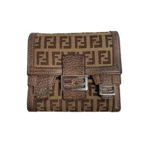 Fendi Ladies Canvas Wallet