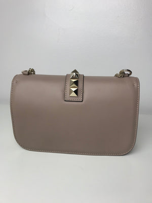 Brand New Valentino Rockstud Shoulder Bag Poudre