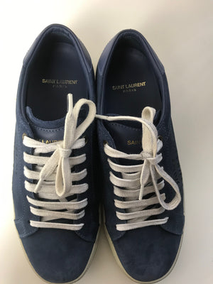 Saint Laurent Court Classic Distressed Sneaker 39