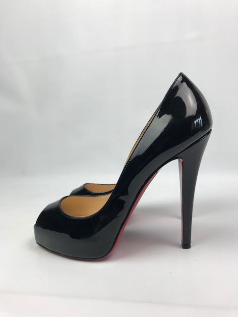 Christian Louboutin Very Prive Black Patent 37