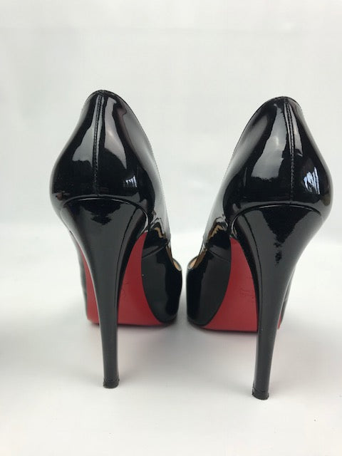 promo code 8f518 59209 Christian Louboutin Very Prive Black Patent 37
