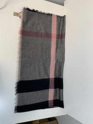 Brand New Burberry Relaxed Mega Check Scarf Dark Trench