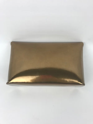 Mulberry Clemmie Clutch Gold Patent Leather