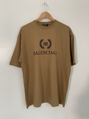 Brand New Men's Balenciaga BB T-Shirt Medium