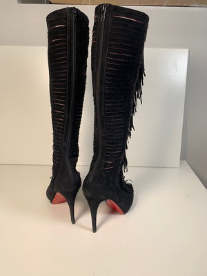 Christian Louboutin Tassel Suede Knee Boots 38.5