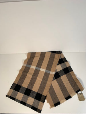 Brand New Burberry Giant Exploded Check Scarf Camel