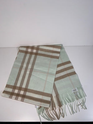Brand New Burberry 100% Cashmere Scarf Pale Apple Green