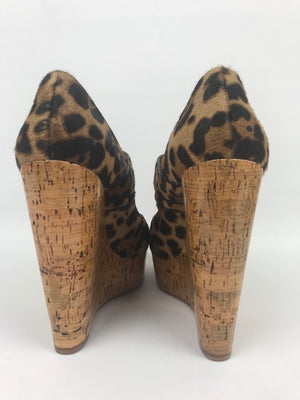 Brand New Christian Louboutin Melides Leopard Wedges 38